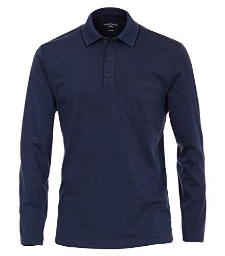 CASAMODA Herren Polo-Shirt Langarm Uni mittleres Dunkelblau XXL