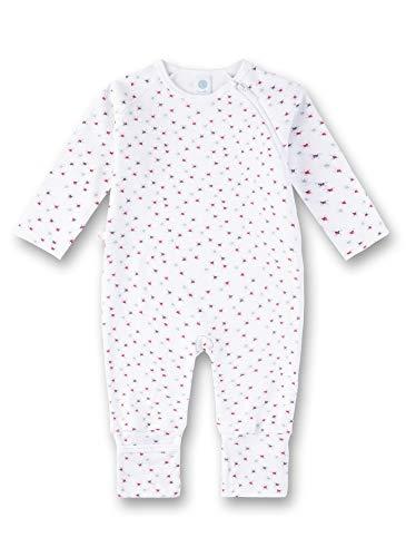 Sanetta Baby-Mädchen Overall Strampler, Weiß (White 10), 56 (Herstellergröße: 056)