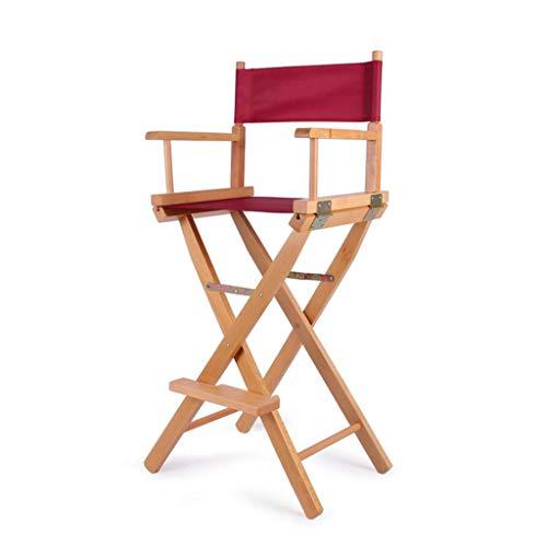 CYY Luggage Rack Kofferständer Massivholz Klappstuhl Regiestuhl Hoher Fuß Make-up Stuhl Tragbarer Stuhl Klappsessel Aus Segeltuch (Color : A)