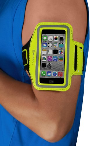 StilGut Brazalete Deportivo para Running/jogginig/Footing, Compatible con iPhone SE & 5/5s, Galaxy S4 Mini, LG G2 Mini, etc (Dispositivos hasta 4'), Verde