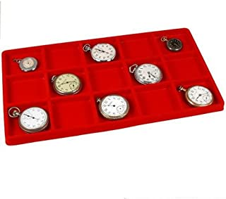 15 Slot Jewelry Coin Red Showcase Display Tray Insert