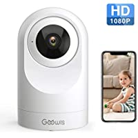 Goowls 1080P HD Pan/Tilt WiFi Camera with Night Vision Motion Detection Two-Way Audio Works with Alexa Cloud Service