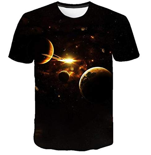 ONLYONE1 T-Shirts Verken De Mysteries of Nature Surprise Hd Gedrukt Unisex T-shirt met korte mouwen Geschikt voor wetenschapsliefhebbers