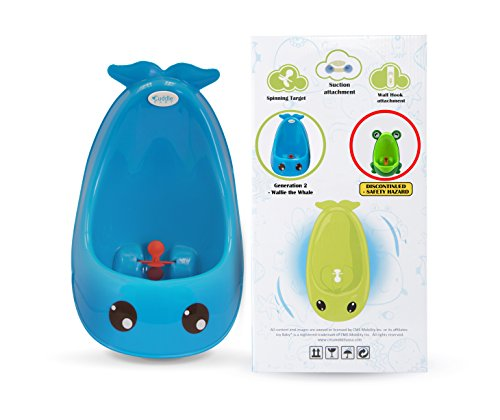 Cuddle Baby 2nd Generation Boy Urinal Potty Toilet Training with Free Potty Training Game (Bright Blue Whale)