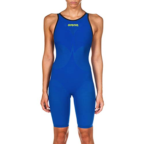Arena Powerskin Carbon Air² Women's Open Back Racing Swimsuit, Electric Blue/Dark...