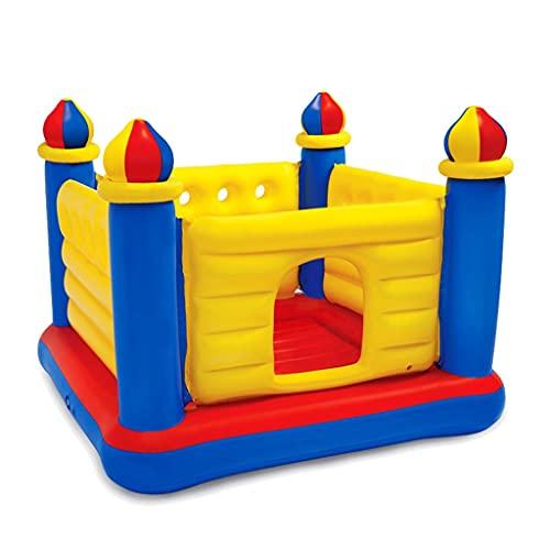Castillos hinchables Para Niños Casa De Juegos En Casa Trampolín Que Rebota En El Interior Fiestas (Color : Blue+Yellow, Size : 175 * 175 * 135cm)