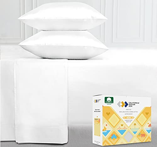 400-Thread-Count Full Size Bed Sheets on Amazon, Pure White - 4 Piece...