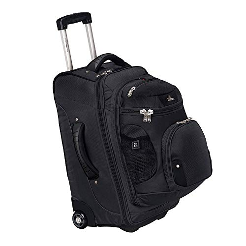 High Sierra AT3 22' Carry-On Wheeled Backpack, Black