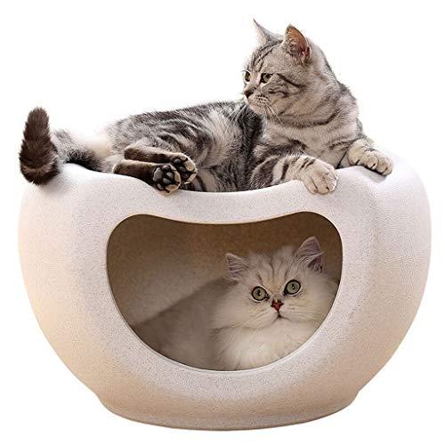 Cama para Mascotas Arena for gatos cerrado cuatro estaciones universal Cat House Villa heces invierno de la perrera del gato del gato de cuatro estaciones de habitaciones Canasta para Mascotas