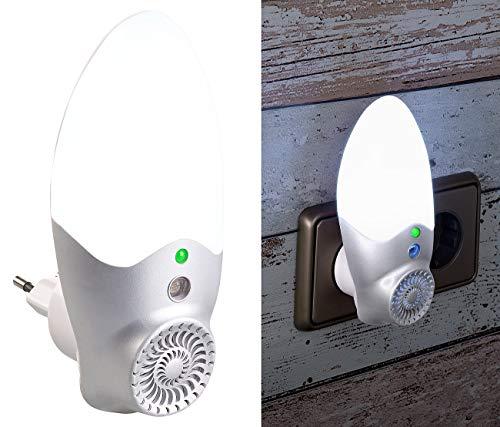 Exbuster Mückenschreck Steckdose: Steckdosen-Mücken-Schreck & LED-Nachtlicht, Licht-Sensor, bis 30 m² (Mückenschreck elektronisch)