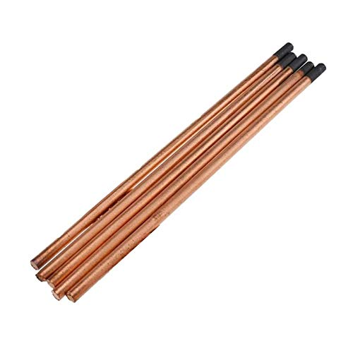 5pcs Barra De Electrodos Redondos ARC Air Carbon Barbería Suministros De Soldadura Para Acero De Bajo Carbono, Acero Fundido, Acero Inoxidable, Industrias De Calderas De Fundición ( Size : 8mm )