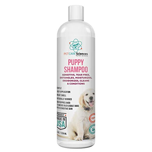 Tearless Puppy Shampoo and Conditioner Gentle and Sensitive, Coconut Oil, Oatmeal and Aloe Dog Shampoo and Conditioner, Made in The USA (8 fl oz)