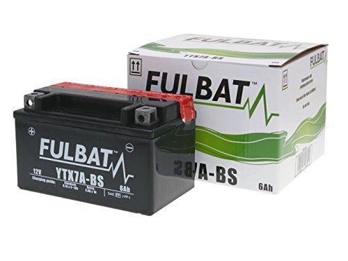 Batterie Fulbat YTX7A-BS für SYM Fiddle II 125 Bj. 2010-2014 inkl. 7,50 EUR Batteriepfand
