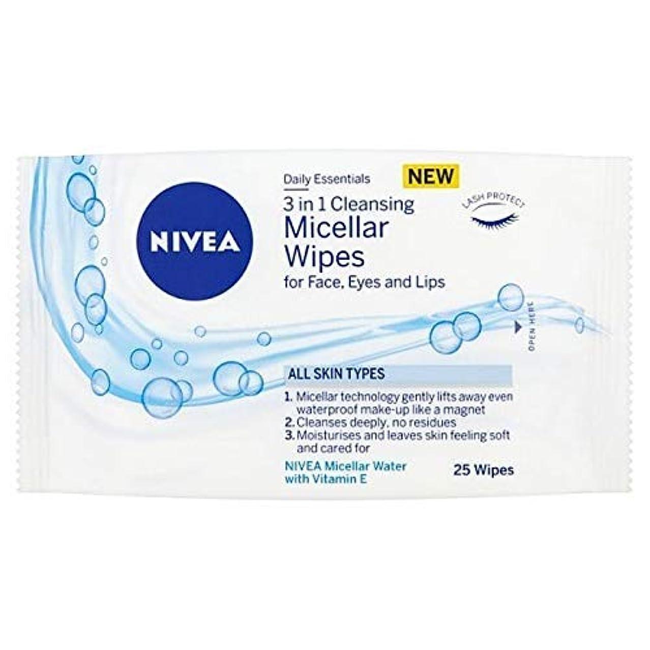 あまりにも特別な圧縮する[Nivea ] ニベアミセルクレンジング顔は、25のワイプワイプ - NIVEA Micellar Cleansing Face Wipes, 25 wipes [並行輸入品]