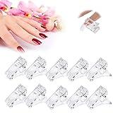 Ealicere 10 pinzas de uñas de polígel transparente para la construcción rápida de uñas,Clips para Uñas de Gel,herramienta de manicura para arte de uñas