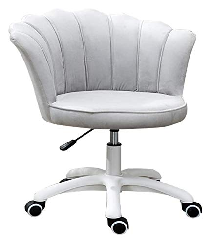 Office Chair, Desk Chairs Office Swivel Modern Upholstered office chairs,Height Adjustable Computer Gaming Chairs Thick Comfortable Seat Cushions Petal Appearance with Nylon Resin Base Velvet Uphoslte