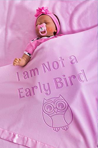 Babydeken met naam, cadeau voor pasgeboren ademende deken voor jongens en meisjes, maat 88x88 CM/36x36