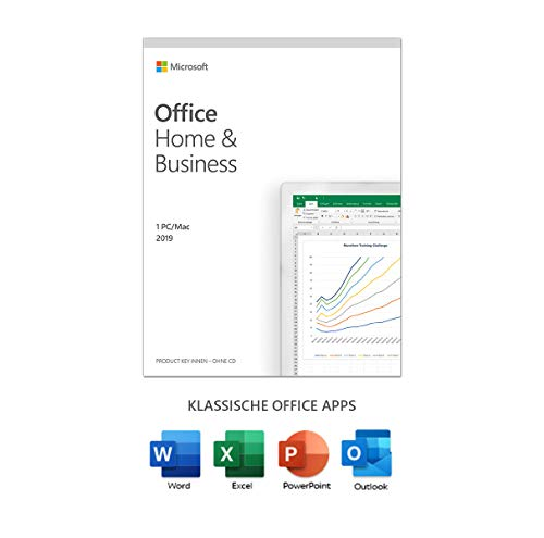 Microsoft Office 2019 Home & Business | multilingual, 1 PC (Windows 10) / Mac, Dauerlizenz | Box