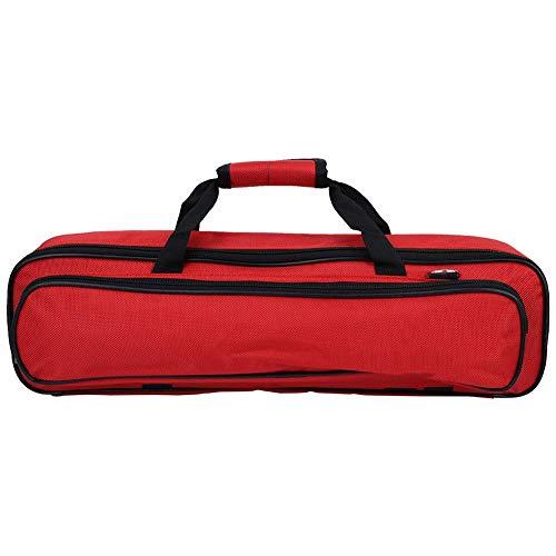 VGEBY1 Bolsa de Flauta, Funda de Almacenamiento de Flauta Acolchada Resistente al Desgaste de Tela Oxford con Accesorio de Instrumento de Viento de Madera con asa de Transporte(Rojo)