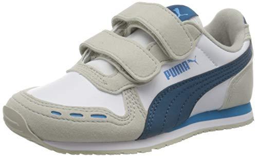 PUMA Unisex-Kinder Cabana Racer SL V PS Sneaker, Gray Violet-Dresden Blue, 35 EU