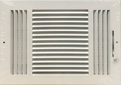 HBW 12x 8 (Duct Opening Size) 3-Way Stamped Face Steel Ceiling/sidewall Air Supply Register - Vent Cover - Actual Outside Dimension 13.75 X 9.75