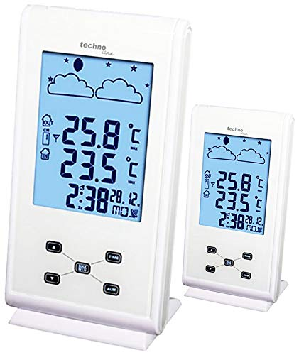 Technoline Funkwetterstation WS 9260 Plus Wetterstation mit 2 Displays