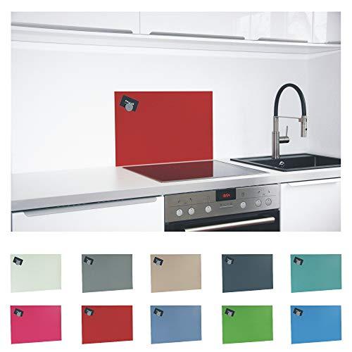 Paulus Spritzschutz Küche Herd Wand Küchenrückwand magnetisch 60x40cm rot, RAL 3002 kaminrot