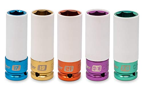 Motivx Tools Lug Nut Socket Set (5pc Metric & SAE Non-Marring Lug Nut Socket Set)