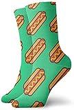 Love girl Hot Dog Burger Calcetines de tobillo personalizados Medias atléticas Calcetines casuales 30cm Para hombres Mujeres