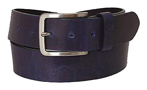 BOSS Ceinture homme universal belt leather petrol 36