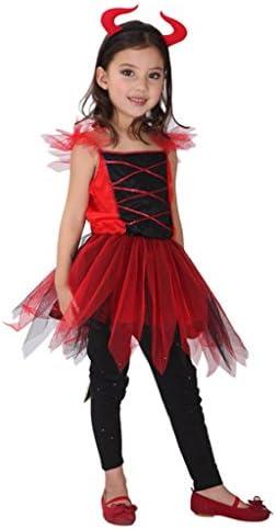 Gift Tower Costume Diable Ange Enfant Fille Pour 4 12ans Deguisement Halloween Cosplay Carnaval Festival Size3 Amazon Fr Cuisine Maison