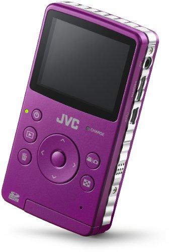 JVC PICSIO GC-FM1V Pocket Memory Camcorder - Purple Pass