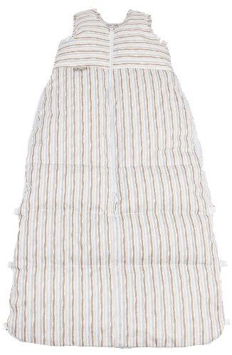Aro Artländer 875880 Wickel-Dauneschlafsack 110 cm, Welle, braun-grau