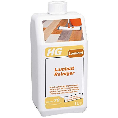 HG Laminat Reiniger 1L – Frisch Duftender, Konzentrierter Reiniger - Für Laminatböden aller Art