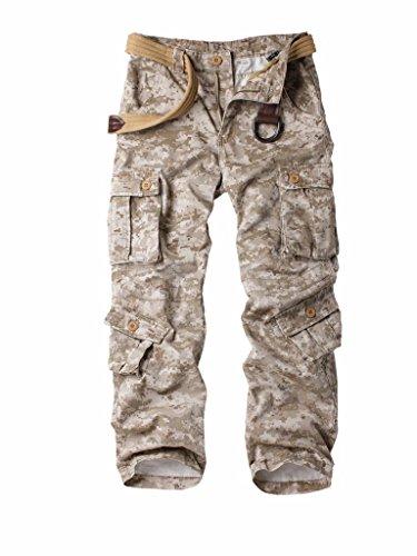 MUST WAY męskie bojówki regularne spodnie wojskowe bojowe spodnie robocze odzież robocza spodnie z 8 kieszeniami