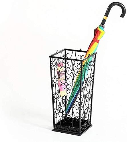 QI-shanping Paragüero Calidad estupenda Inicio Hierro Forjado Oficina Paraguas Cubo colgado Paraguas Plegable de Almacenamiento Compartimiento con desagüe del cajón, for Hotel Oficina
