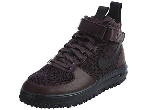 Nike Mens Lunar Force 1 Flyknit Workboot Burgundy/Black Fabric Size 10.5