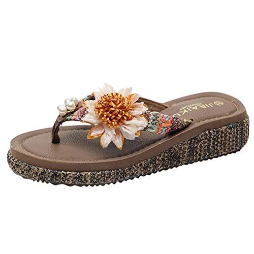 UXITX flip flop Vrouwen Beach Schoenen Casual Vrouwelijke Slippers Zomer Mode Sandalen Anti-slip Slippers Bloemen Flip Flops
