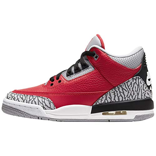Air Jordan 3 Retro Se Sneaker (Fire Red/Fire Red-Cement Grey, Numeric_38)