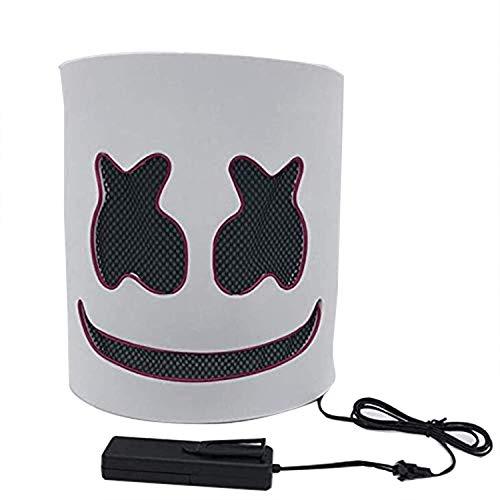 Cozywind Halloween Mscara LED para Cosplay,DJ, Fiestas, Festivales, Disfraces, Mscaras de Cabeza Completa para Adultos y nios. (Rosa)