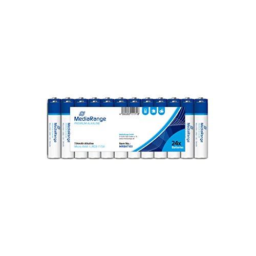MediaRange MRBAT103 - Pilas de 1,5V LR03 Alkaline AAA, Negro