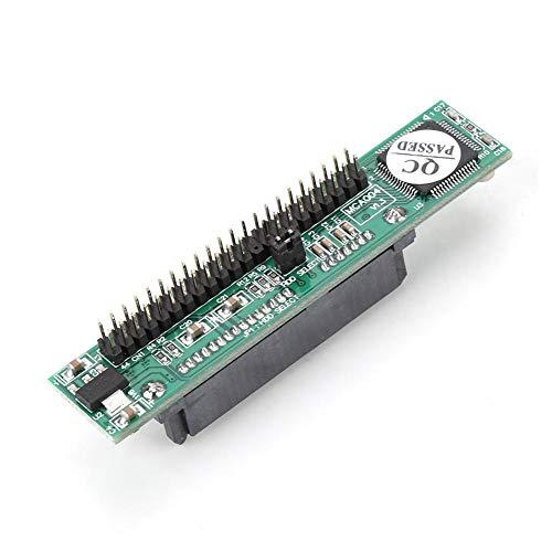 Diyeeni Adaptador IDE a SATA de 2,5 Pulgadas, Disco Duro HDD SATA Hembra a IDE 44Pin Adaptador convertidor Macho Tarjeta, Disco Duro SATA 7 + 15PIN a Adaptador IDE