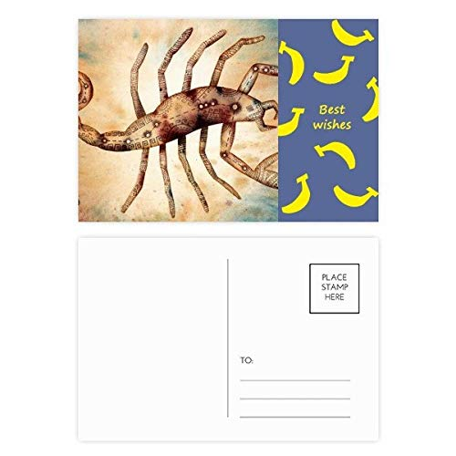 DIYthinker November Oktober Schorpioen sterrenbeeld Zodiac Banaan Postkaart Set Thanks Card Mailing Side 20 stks 5.7 inch x 3.8 inch Multi kleuren