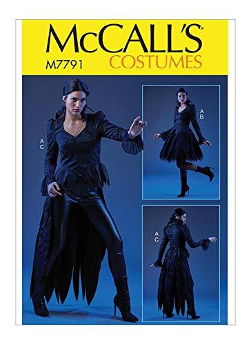 McCall's Patterns Damen Gothic Vampir Halloween Kostüm Schnittmuster Größen 42-50