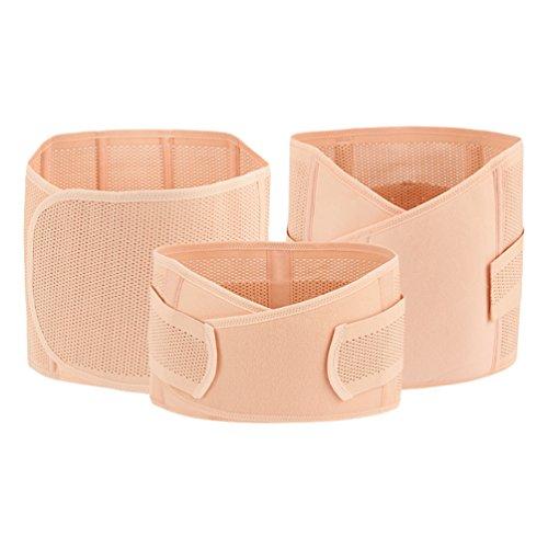 Dexinx 3 en 1 Apoyo de Posparto Recuperación Cinturón del Vientre/Cintura/Pelvis Faja del Cuerpo Corsé Cinturón Faja de Maternidad de Alta Elasticidad Color de piel1 L ✅