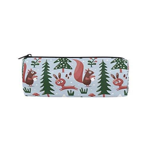 Weihnachten Eichhörnchen Federmäppchen Pen Tasche Multifunktions Stationery Tasche Reißverschluss Tasche von bennigiry, Student Reißverschluss Bleistift Inhaber Tasche Geschenk Travel Make-up Tasche
