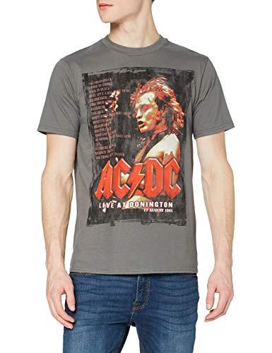 Générique AC/DC Donington Set T-Shirt, Gris, L Homme