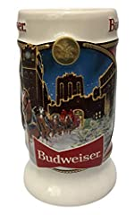 41st anniversary edition stein in the annual series of collector steins Each 2020 Budweiser Clydesdales Holiday Stein includes a custom-designed branded gift box and a certificate of authenticity Handcrafted ceramic beer stein expressly for Anheuser-...