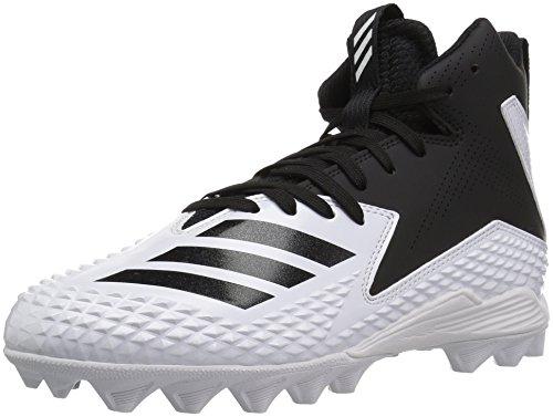 adidas Unisex-Kid's Freak Mid MD J Football Shoe, FTWR White, core Black, core Black, 1.5 M US Little Kid