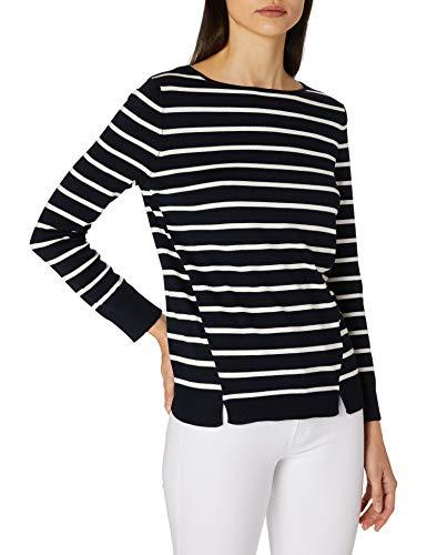 Gerry Weber Casual Womens 1/1 Arm Pullover Sweater, Blau/Ecru/Weiss Ringel, 34